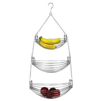 3-Tier Chrome Hanging Basket