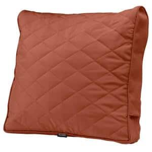 Montlake FadeSafe 25 in. x 22 in. x 4 in. Rectangular Spice Patio Chair/Loveseat Back Quilted Cushion