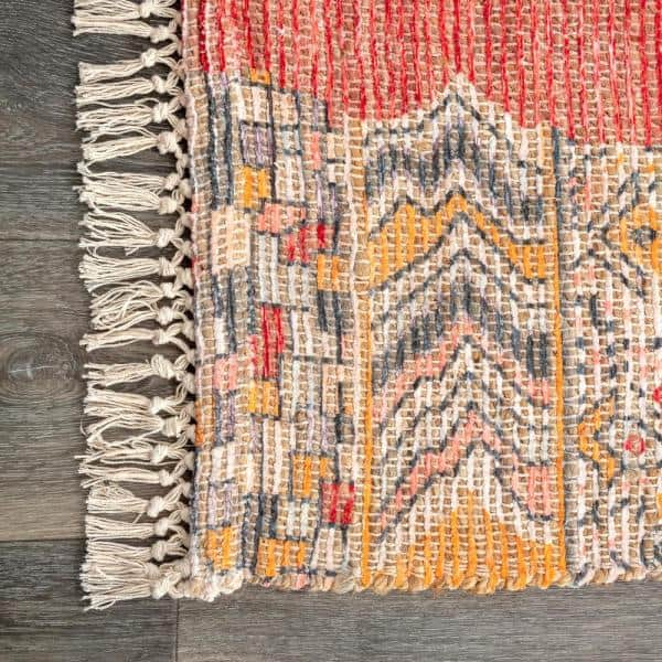 Nuloom Hermina Tribal Jute Multi 8 Ft X 10 Ft Area Rug Svin21a 76096 The Home Depot