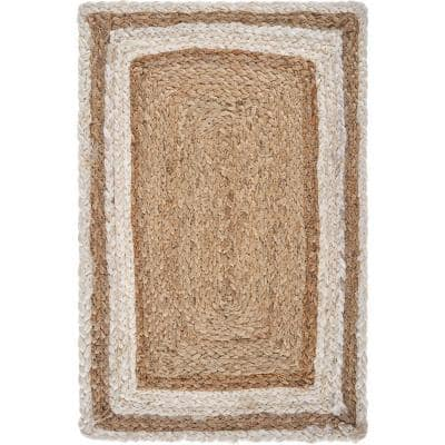 Toned 19 in. x 13 in. Bleach / Natural Jute Placemat (Set of 4)