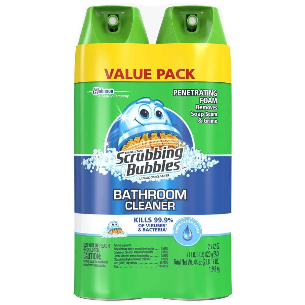 Scrubbing Bubbles 22 Oz Fresh Foaming Bathroom Cleaner 2 Pack 621132 The Home Depot