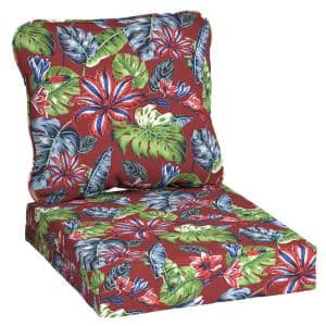 24 in. x 22 in. Ruby Tropical Deep Seating Outdoor Lounge Chair Cushion