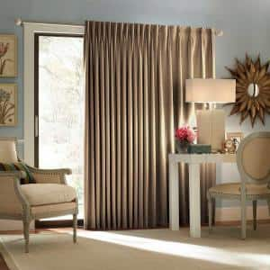 Wheat Woven Thermal Blackout Curtain - 100 in. W x 84 in. L