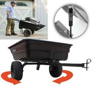 12 cu. ft. - 14 cu. ft. Lift-Assist and Swivel Dump Cart with Run-Flat Tires