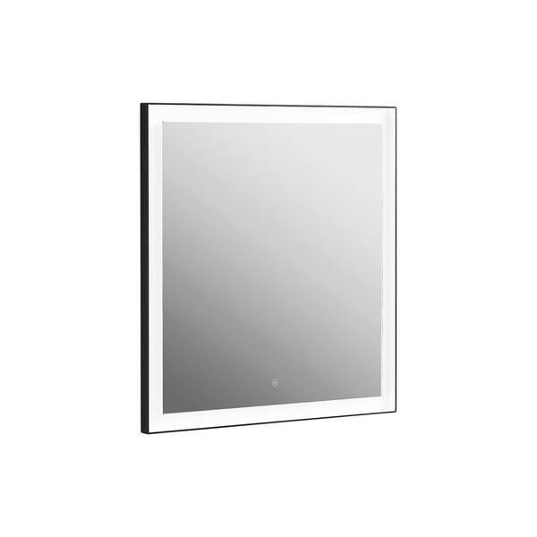 H Frameless Single Bathroom Mirror, Home Depot Bathroom Mirror With Lights