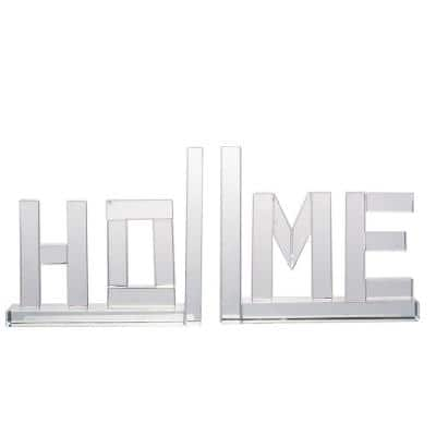 Clear Home Bookends (Set of 2)