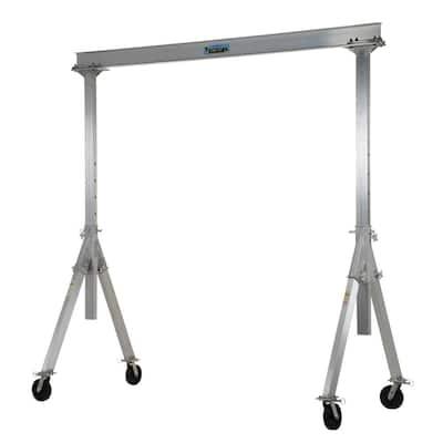 2,000 lb. 12 x 8 ft. Adjustable Aluminum Gantry Crane