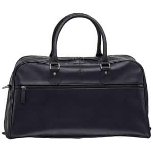 Buffalo Collection Black Leather 21.5 in. Duffel Bag, 21.5 in. W x 11 in. D x 14 in. H