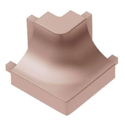 Dilex-AHK Satin Copper Anodized Aluminum 1/2 in. x 1 in. Metal 90 Degree Outside Corner