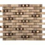 Trav Ancient Tumbled Compound Beige Tumbled 12.01 in. x 12.01 in. x 12 mm Travertine Mesh-Mounted Mosaic Tile