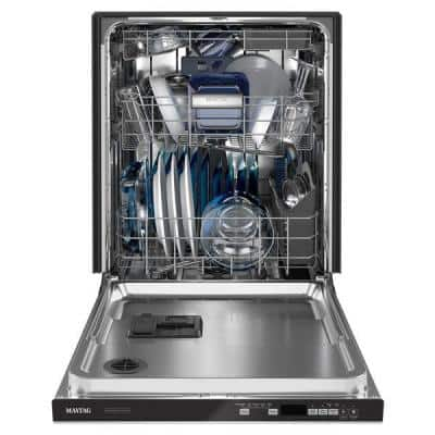 24 in. Fingerprint Resistant Stainless Steel Top Control Built-in Tall Tub Dishwasher with Dual Power Filtration, 47 dBA