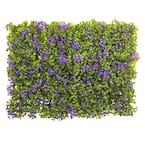 Indoor 6in x 6in. Purple and Green Clover Mat (Set of 12)