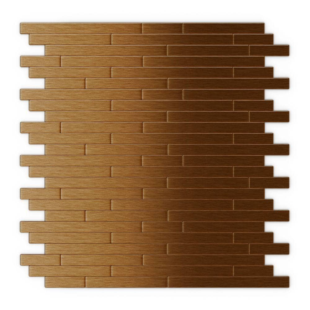 Inoxia Speedtiles Take Home Sample Wally Dark Copper 4 In X 4 In Metal Peel And Stick Wall Mosaic Tile 0 11 Sq Ft Sam Usid913 1 The Home Depot