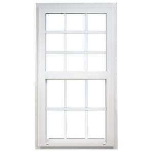 35.5 in. x 71.5 in. Single Hung Vinyl Window - White