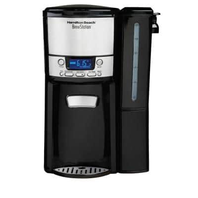 BrewStation 12-Cup Programmable Black Drip Coffee Maker with Removable Water Reservoir