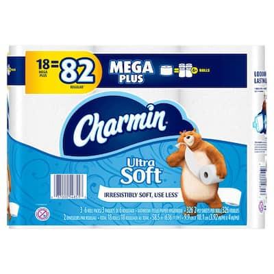Ultra Soft Toilet Paper (18 Mega Plus Rolls)