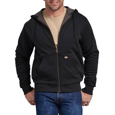 Men's Black Thermal Lined Fleece Hoodie
