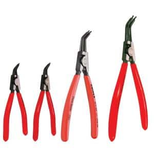 4-Piece Forged Steel External Retaining Ring Pliers Set