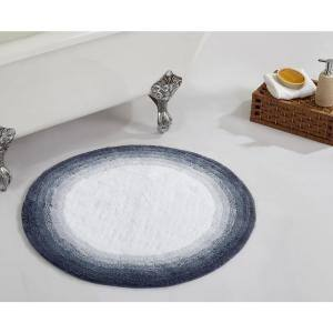 Torrent Collection Gray 30'' x 30'' 100% Cotton Bath Rug