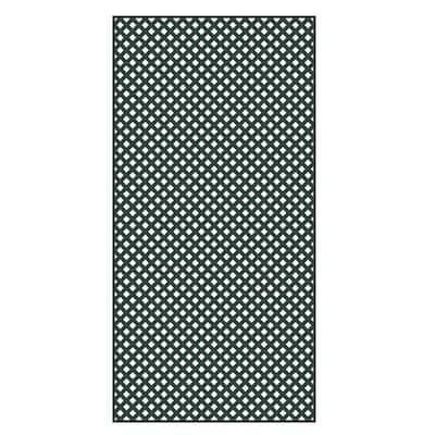 4 ft. x 8 ft. Woodland Green Privacy Diamond Vinyl Lattice - Framed