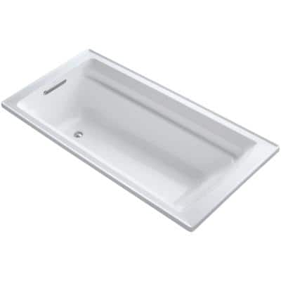 Archer 6 ft. Reversible Drain Acrylic Soaking Tub in White