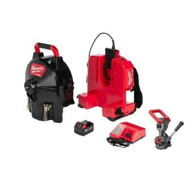 M18 Fuel 18V Lithium-Ion Cordless Drain Cleaning 3/8 in. Switch Pack Sectional Drum Kit w/Cable Drive Accessory