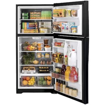 21.9 cu. ft. Top Freezer Refrigerator in Black