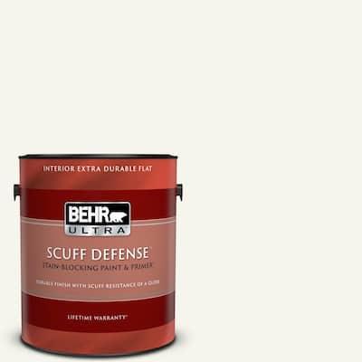 1 gal. #75 Polar Bear Extra Durable Flat Interior Paint & Primer