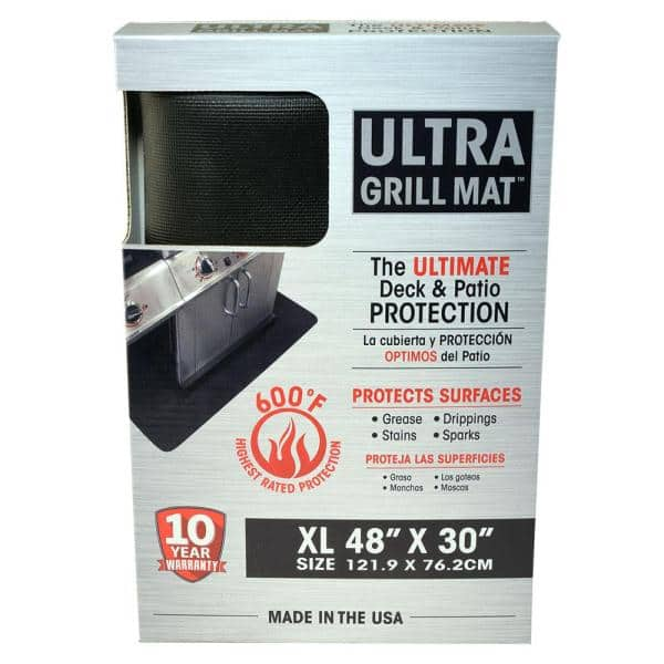 48 In X 30 In Black Rectangular Ultra Grill Mat Ugm 4830 C The Home Depot