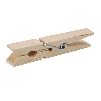 Natural Wood Clothespins (50-Pack)