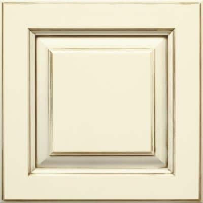 Plaza 14 1/2 x 14 1/2 in. Cabinet Door Sample in Maple Cotton with Amaretto Creme