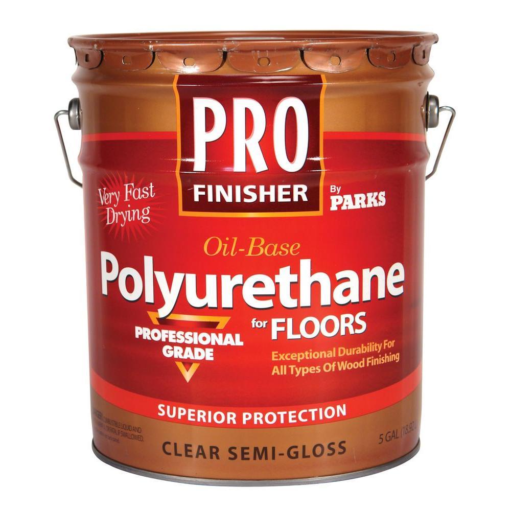 Pro Finisher 5 gal. Clear Semi-Gloss 350 VOC Oil-Based Interior Polyurethane for Floors