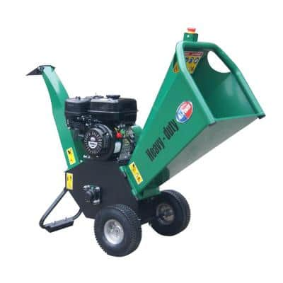4 in 7 HP 210cc Gas Powered Self-Feeding Consumer Chipper Shredder With Dual Reversible Double Edge Blades