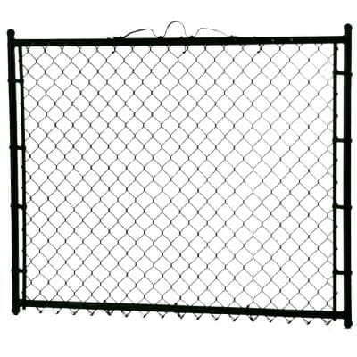 3-1/2 ft. x 4 ft. Walk-Through Steel Metal Chain Link Fence Gate