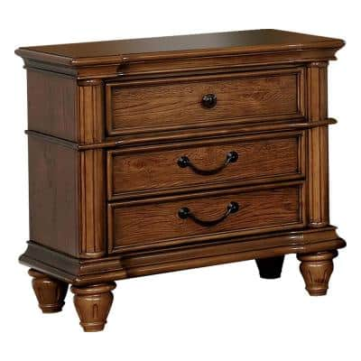 Mantador Light Oak Night Stand with USB Outlet