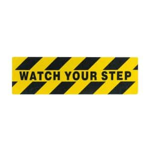 5.9 in. x 19.7 in. X-Large Watch Your Step Anti-Slip Self Adhesive Grit Step