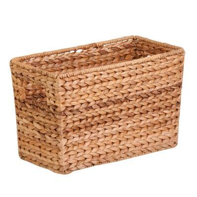 Natural Magazine Water Hyacinth Wicker Storage Basket
