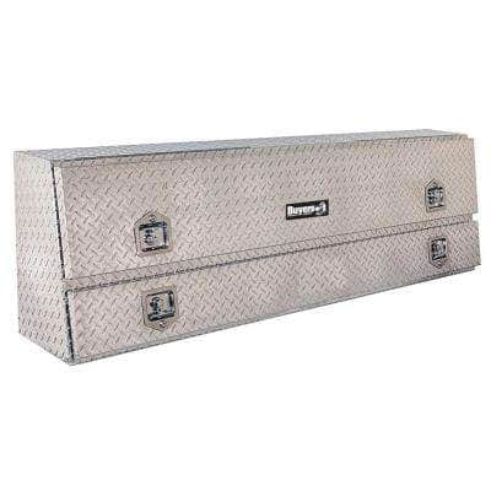 72 Diamond Plate Aluminum Low Profile Crossbed Truck Tool Box