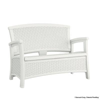 Elements Resin Outdoor Loveseat With Storage