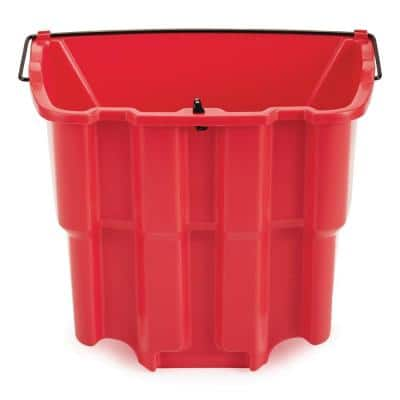 WaveBrake 4.5 Gal. Red Plastic Dirty Water Bucket