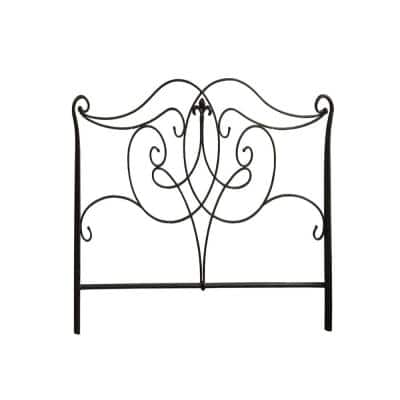 Jasmine Black Queen Size Bed with Footboard Only