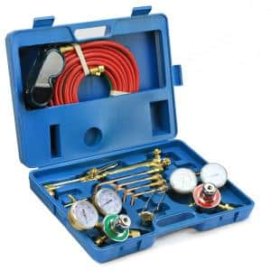 Cut Welder Kit with Torch, Oxygen and Acetylene Regulators, 3/16 in. x 15 ft. Hose, Victor Type Cutting Welding Brazing