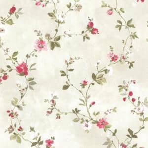 Sarafina Pink Floral Pink Wallpaper Sample
