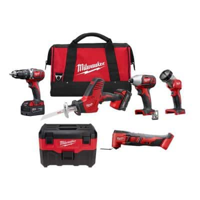 M18 18-Volt Lithium-Ion Cordless Combo Tool Kit (4-Tool) with Wet/Dry Vacuum and Multi-Tool
