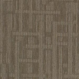 Planner Brown Loop 24 in. x 24 in. Modular Carpet Tile Kit (18 Tiles/Case)