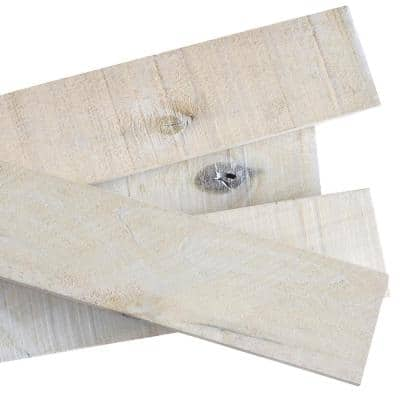 1/2 in. x 4 in. x 4 ft. White Wash Weathered Hardwood Board 5 packs (52.5 sq.ft.) – (8 pieces / 10.5 sq.ft. per pack)