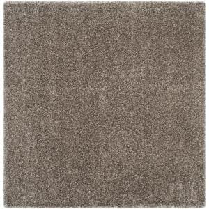 Milan Shag Gray 7 ft. x 7 ft. Square Solid Area Rug
