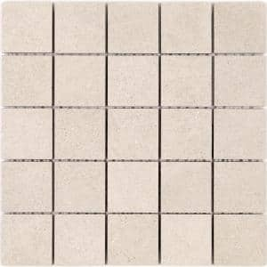 Ritsos Beige 11.81 in. x 11.81 in. Matte Porcelain Floor and Wall Mosaic Tile (0.97 Sq. Ft. /Each)