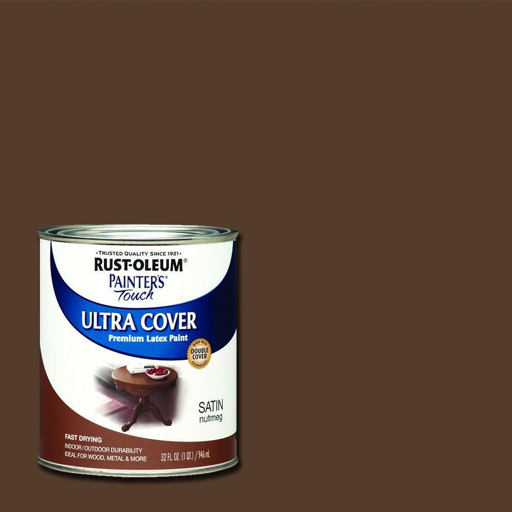 32 oz. Ultra Cover Satin Nutmeg General Purpose Paint