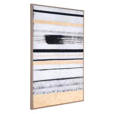 """""""Vertical Brush Strokes"""" Printed Canvas Abstract Wall Art 33 in. x 48 in."""
